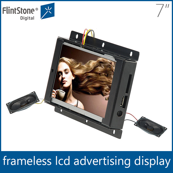 Flintstone auto loop 7 inch frameless mini lcd video screen