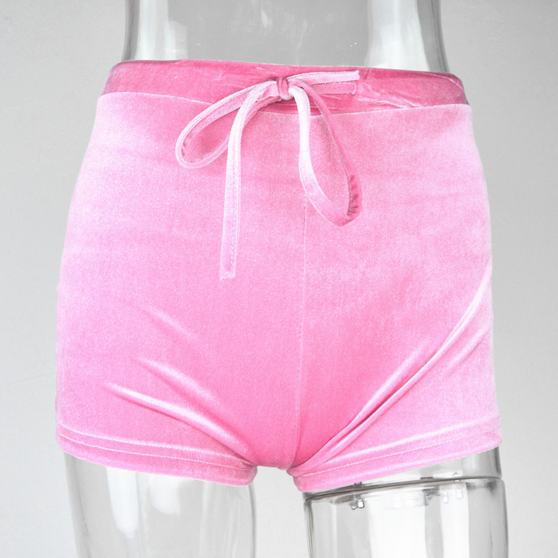 Velvet Shorts Woman Pants Lady Shorts Wholesale Womens Icing Shorts