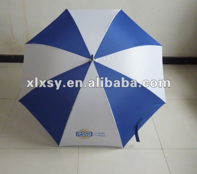 Blue white aluminium alloy golf umbrella
