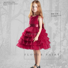 3-10 Years Old New Baby Frock 2016 Baby Girl Dress In Red Color