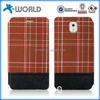 OEM England pattern wallet leather case for samsung tab 3 made in china