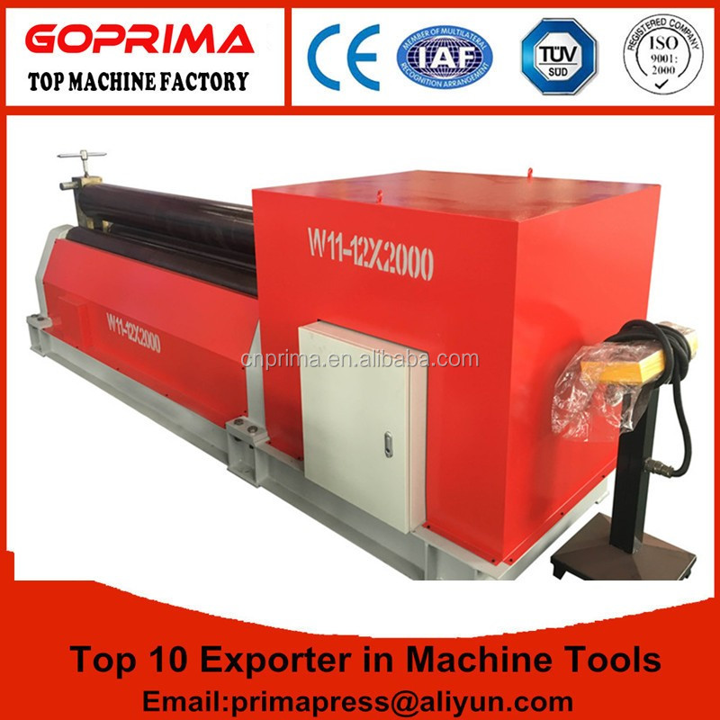 Prima hydraulic plate roller bending machine/mechanical 3 roller rolling machine