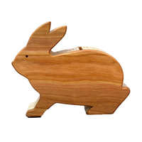 Ceramic wood coin Rabbit bank money boxes savings bank for kids