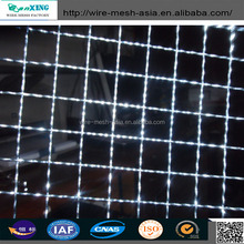 galvanized durable square electro crimped mesh screen /stainless steel crimped wire mesh screen
