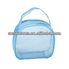 Sky blue round pvc pouch bag for cosmetic/ornament