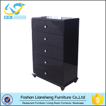 2016 new modern wood chest and drawers design black high cabinet with drawers for home furniture on sales
