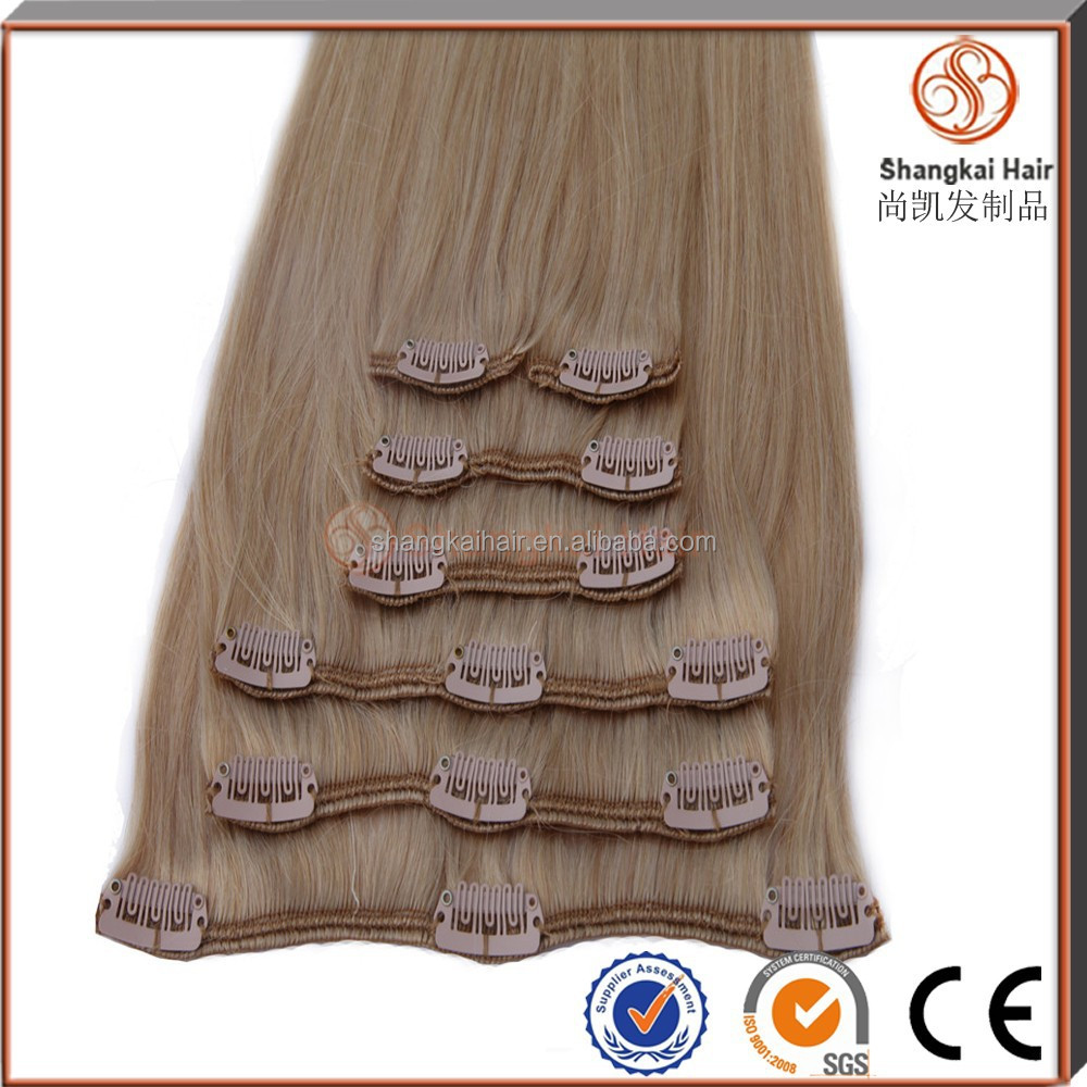 wholesale malaysian hair extension 26 inch human hair remy clip in hair extensions