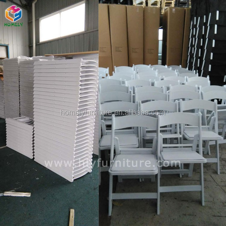 factory supply wedding reception Resin folding white wimbledon chair