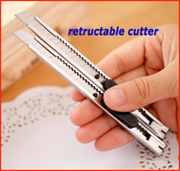 mini plastic retractable cutter knife