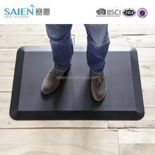 BSCI comfort anti fatigue pu foam office standing desk mat/kitchen floor mat