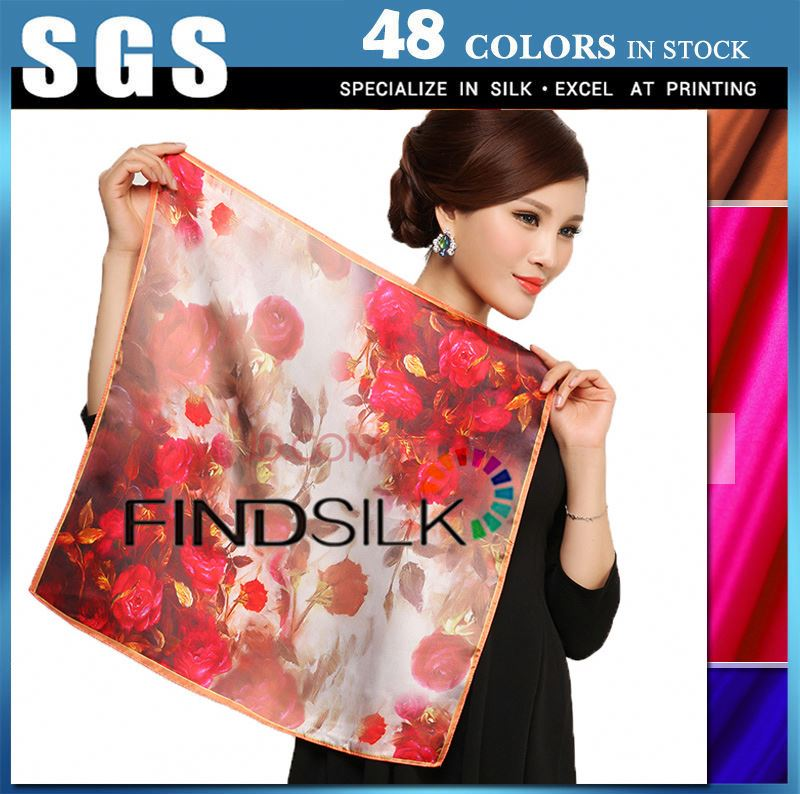 Various styles ombre silk satin fabric