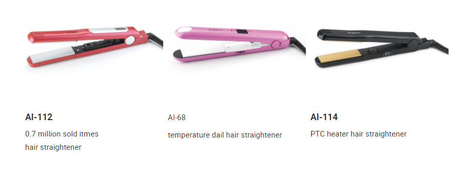Ceramic coating plate hair straightener made in china