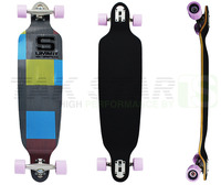 39 inch high quality 9 ply canadian maple drop down longboards complete