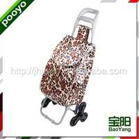 portable luggage trolley cart commercial plastic shopping trolies