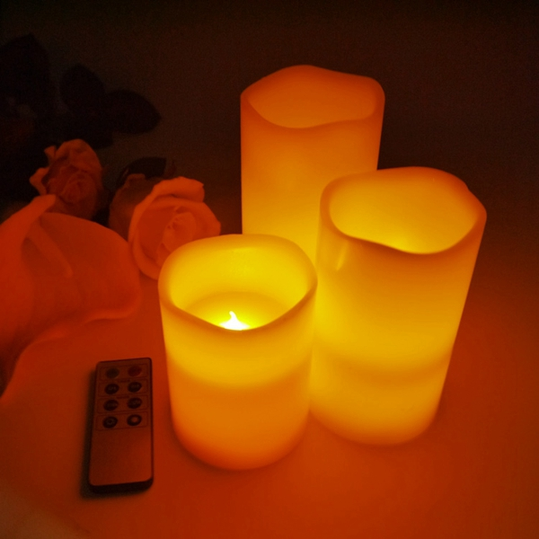 Parties use and plastic led floating candle