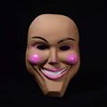 PVC material mask the purge smile mask for halloween party