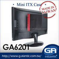 GA6201- Metal High Quality Mini ITX Case for Low Profile M/B with wifi hole