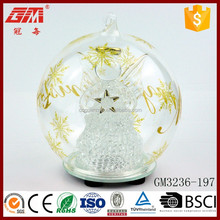 lighted christmas hanging stars snowflake glass ball decoration