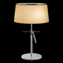 Modern Fabric White Tronconi Tripod Writing Home Decorative Table Lamp for Hotel Made in China,M8046