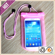 pvc mobile phone waterproof bag for Samsung,Iphone 6 plus