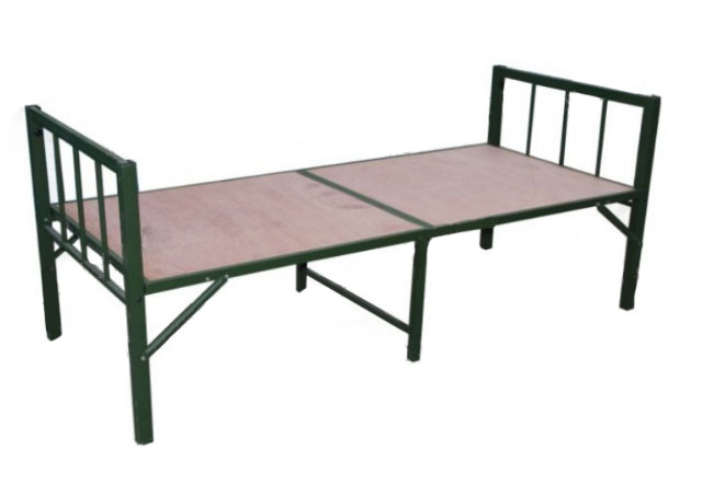 foldable steel military camp bed