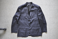 New Design Italian Style 60% Wool 40% Viscose Black Men's Business Suits