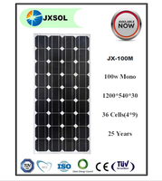 2016 hot sale class A 100w monocrystalline solar panel with competitive price manufacturer in China
