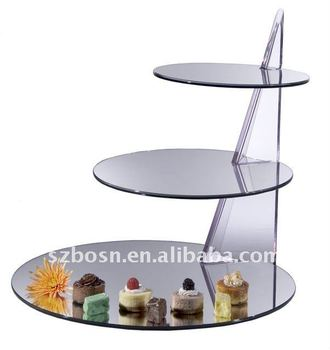 3-layer Ladder-Shaped Acrylic Cake Stand for pastry wedding party