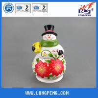 The Snowman Ceramic Cookie Jar Christmas Kitchen Decoration,Christmas Snowman Cookie Jar and Green Scarf