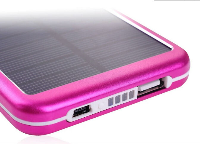 Rohs certification promotional gift solar power bank cell phone charger