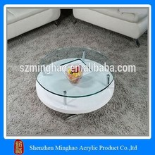 White bases acrylic tea table, color acrylic coffee table