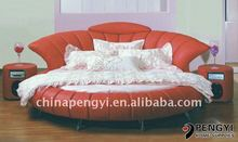 2013 Alibaba italian leather round beds australia stylish furniture PY-003