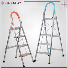 GEKE 2 hours replied Aluminium 3 steps ladder high quality folding ladder,warehouse foldable agility ladder