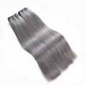 High quality no tangle no shedding sew in weave hair extensions grey
