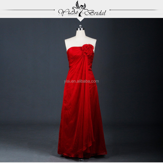 RSE600 Red Wedding Cheap Bridesmaid Dresses With Shawl