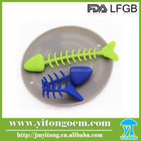 2016 Silicone Hot sales Rubber Fish Dog Toy silicone Fish Dog Pet Toy