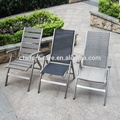 Cheap Custom Ergonomic Outdoor Furniture Aluminium Folding Chair With Footrest