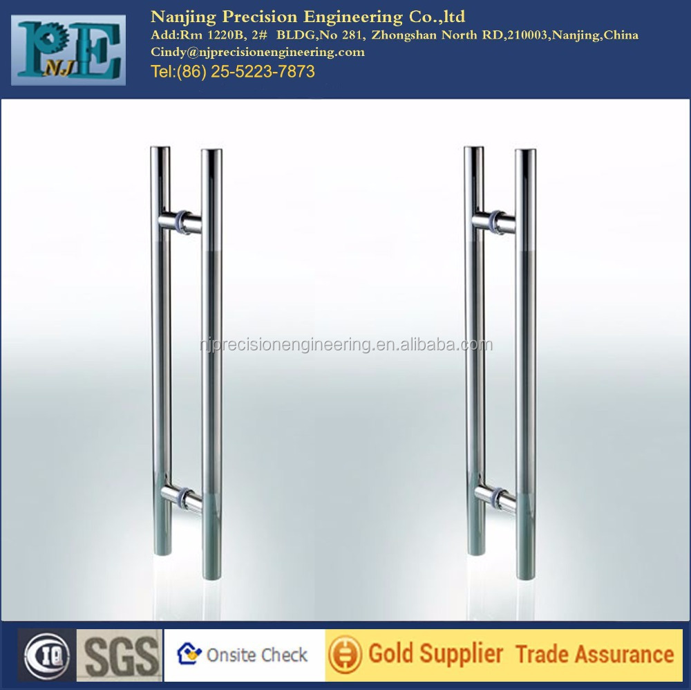 chinese strong frameless main door stainless steel pull <strong>handles</strong>