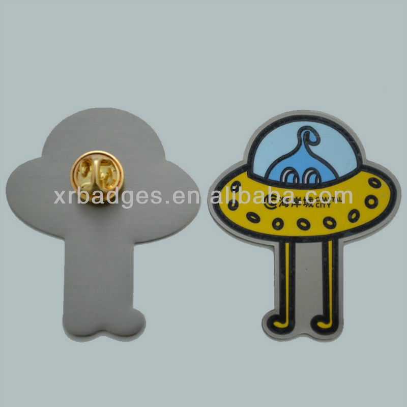 custom rectangular pin badge made in shenzhen low price