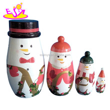 Fashion handmade Russian nesting wooden babushka doll for sale W06D036-S