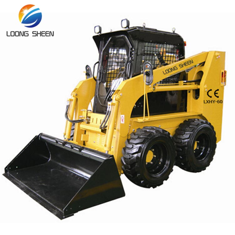 Hot Sell 60HP Skid Steer Loader Can Instal Snow Blower Snow Plow And Snow Sweeper