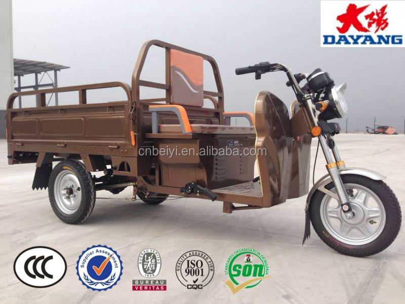 2016 china chongqing best selling factory price 800/1000/1200w electric cargo tricycle 3 wheel motorcycle