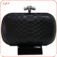 New arrival exotic real python leather box clutch
