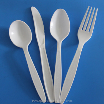 4g Wenzhou Medium duty plastic PS disposable cutlery knife fork spoon
