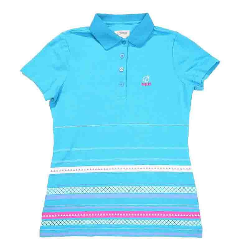 High quality dry fit women striped polo shirt custom for Custom dry fit polo shirts