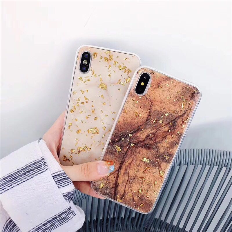 Luxury Gold Foil Bling Marble Phone Case For iPhone 11 pro max X XS Max XR