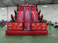 Custom Made Inflatable Slide Giant Red Inflatable Dry Slide for party cerebration