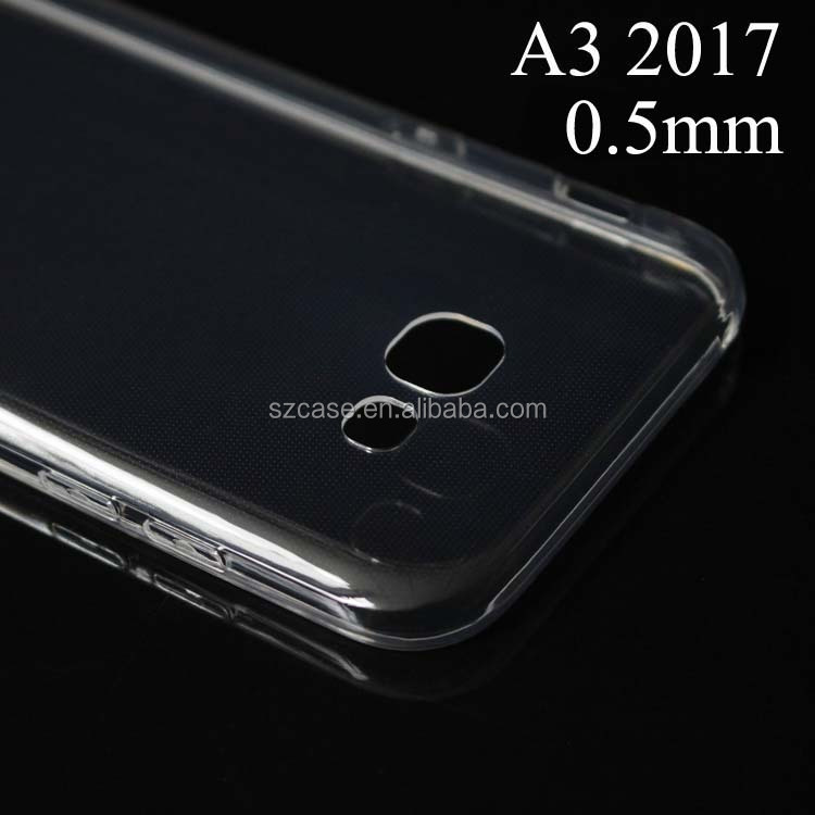 High quality transparent clear ultra thin tpu case cell phone case for Samsung Galaxy A3 2017 A320