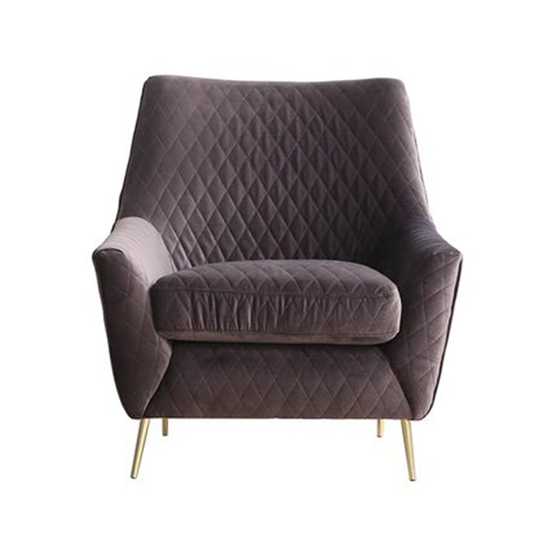 Wayfair hot sales armchair velvet luxury sofa metal leg hotel arm <strong>chair</strong>