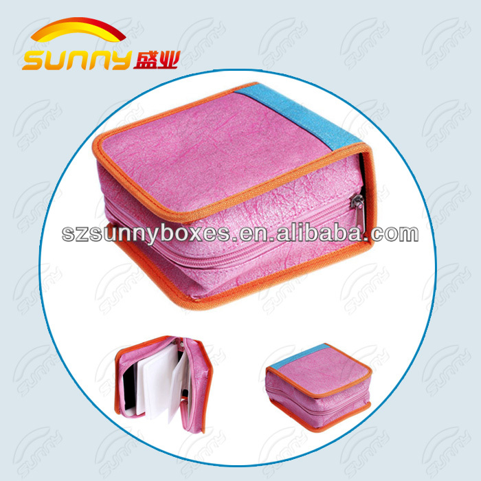 pu leather cd case wedding dvd cases cd cases